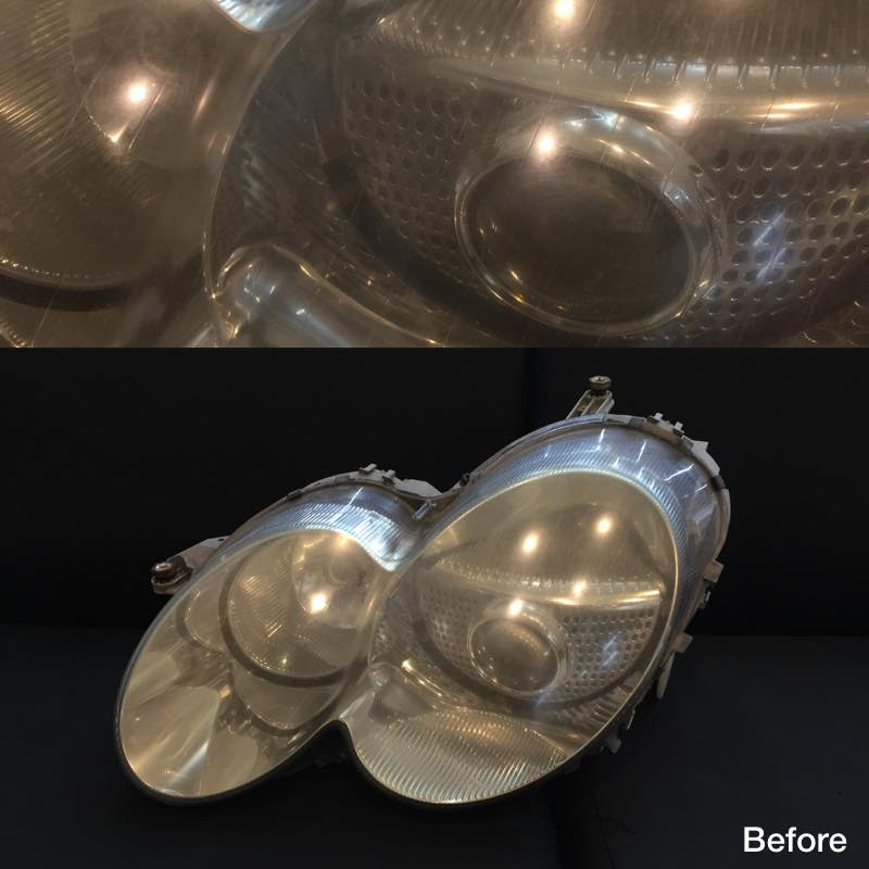 Headlights Polish In/Out (Before)
